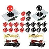 EG STARTS 2 jugadores Arcade Game Kit Piezas USB Pc Joystick para Mame...