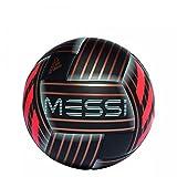 adidas Herren Messi Q1 Ball, Black/Tactile Gold Metallic/Solar Red, 5