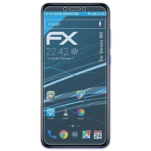 atFolix Schutzfolie kompatibel mit Vernee M6 Folie, ultraklare FX Bildschirmschutzfolie (3X)