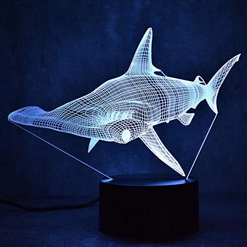 Pbbzl 3D Led Tischlampe Decor Usb Shark Leuchte Nachtlicht Nachttischlampe Schlaf Nachtlicht
