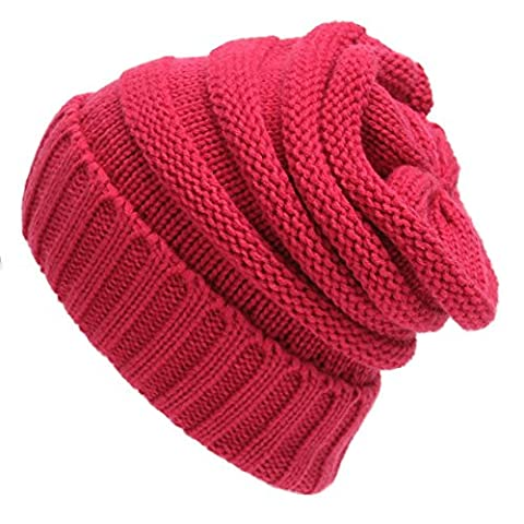Z-P Winter Warm Women's Fashion Simple Styles Wool Knitted Pure Colour Hat