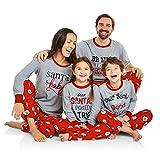 Riou Weihnachten Set Kinder Baby Kleidung Pullover Familie Pyjamas Nachtwäsche Outfits Set PJS Homewear für Eltern Junge Mädchen Home Service Anzug Schlafanzug Set (2XL, Mom)