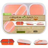 Smart Planet - Silicon Collapsible Meal Kit - Lunch Box - Orange - BPA FREE