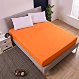 BEDZHAON Double Antidérapant Couvre-Matelas Couvre-Couche Couvre-Matelas Respirant...