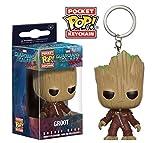 Funko 13291-PDQ POP Schlüsselanhänger Figur: Marvel: Guardians O/T Galaxy 2: Ravager Groot