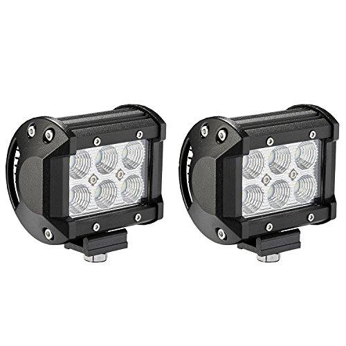 Gu24 Compact (alaman A001LED Leuchtmittel Bars [2Pack] 18W CREE Flood LED Pods LED Arbeit Licht fahren Nebel Lichter für Offroad)