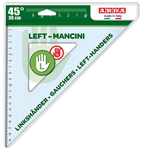 Arda Dreieck 45°, 30Für Linkshänder, 30cm, Left