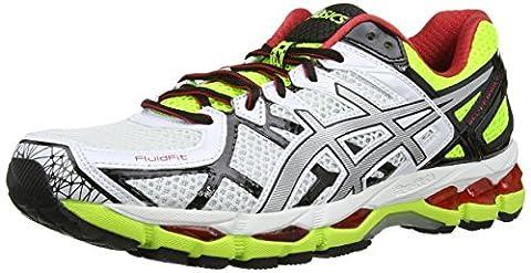 ASICS Gel-Kayano 21, Chaussures Multisport Outdoor Hommes - Blanc (Black/Onyx/Silver