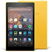 "Fire HD 8 Tablet with Alexa, 8"" HD Display, 32 GB, Canary Yellow - with Special Offers (Previous Generation - 7th)"