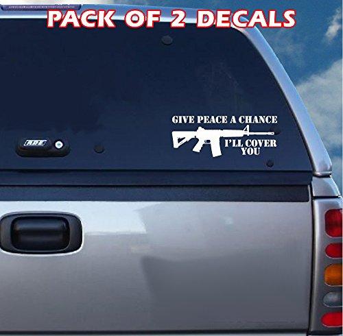 : AR15-Give Peace A Chance Aufkleber (Aufkleber Remington)
