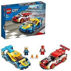 LEGO CityNitroWheels AutodaCorsa con 2 Minifigure dei Piloti e i Macchinine da Corsa, per Bambini di 5 Anni, 60256 5702016617900 LEGO