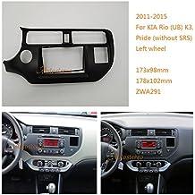 autostereo 11–291–2DIN panel de radio para radio de coche adapte para Kia Rio UB K3Pride 2011–2015Radio de coche Radio Estéreo