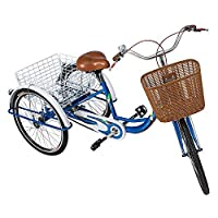 Adults Megawheels Tricycle With Basket 24 inch- Blue