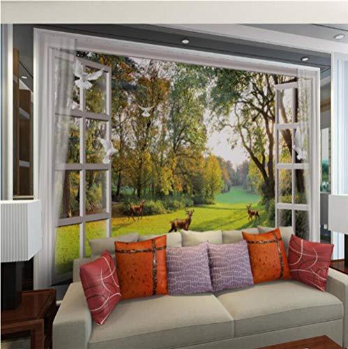 3D Wallpaper Landschaft Hirsch Taube Tapete für Wohnzimmer Papel de Parede 3d -