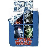 Disney Star Wars Sides - Funda nordica 3 piezas para cama de 90 cm