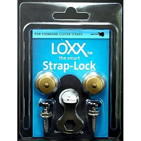 Loxx EG / B Instrumento Correa de bloqueo - latón antiguo