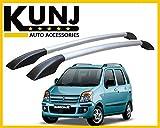 #6: Sleek Model Car Roof Rail - Maruti Suzuki Wagon-R - with 3M Adhesive Tape - Black/Silver