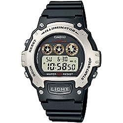 Casio Reloj Digital para Hombre con Correa de Resina – W-214H-1AVEF