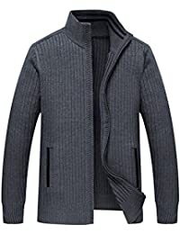 Zicac Pull Manches longues Col Montant Homme