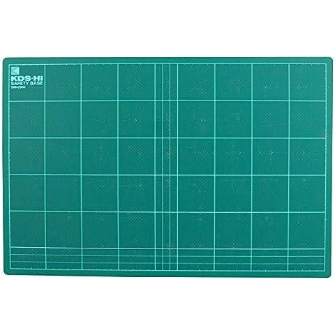 KDS SM-2000 - Base de corte con plantilla (Tabla para medir y cortar) - 450 x 300 x 3 mm - [ Tipo: Suave ] - Color: Verde (Cutting Board)