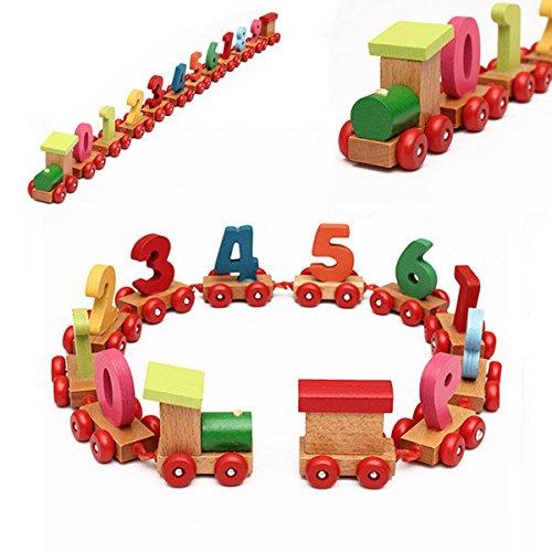 Bazaar Baby Kleinkind Kind Holz digitalen kleinen Zug Anzahl pädagogisches Spielzeug - Zug Pädagogische