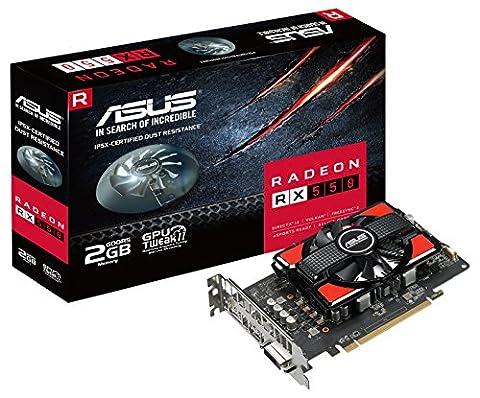 ASUS AMD RX 550 RX550-2G 128-Bit GDDR5 Memory DisplayPort/HDMI/DL-DVI-D PCI