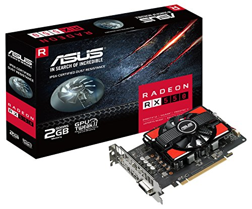 ASUS RX550-2G Radeon RX 550 2GB GDDR5 - Tarjeta gráfica...