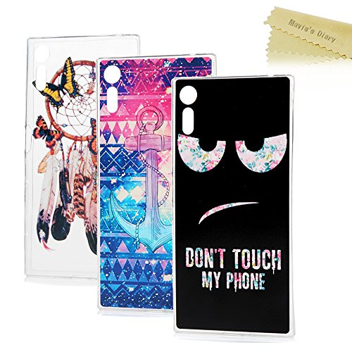 sony-xperia-xz-case-maviss-diary-3-pcs-clear-soft-flexible-tpu-silicone-rubber-skin-bumper-cover-sho