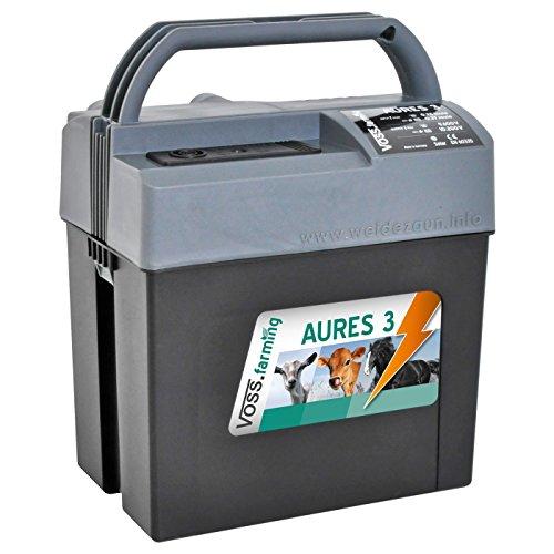 """Weidezaungerät (9V, 12V, 230V) """"AURES3"""" inkl. 9V Weidezaunbatterie und Zubehör, passend für den Elektrozaun und Weidezaun ihr Begleiter für die Weide Netzgerät, Batteriergerät - 2"""