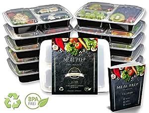 Neu bei Amazon – Meal Prep – Das Original – [10] Qualitativ hochwertige Kunststoffboxen – BPA-Frei, Mikrowellengeeignet, Spülmaschinenfest, Wiederverwendbar, Verstärkt, Stapelbar, Dichtegeprüft und einfach zu öffnen mit Easy Open + gratis eBook!