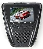 LKM Security Auto Kamera / Dashcam Full HD 1080p | Videoüberwachung mit Nachtsicht + Weitwinkelobjektiv + Bewegungsmelder | Überwachungskamera mit Speicher für das Auto schwarz
