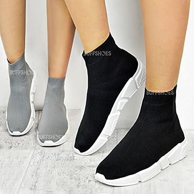 Damen Turnschuhe im Socken-Stil - zum Joggen geeignet - bequemes Strick-Material
