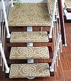 GRENSS 10 Stück Rutschfeste Treppe trend Matten europäischen Treppe setpping Teppich setzt Schritt Wolldecke für Treppe 65 * 24 cm für 24 cm breite Treppe pad Matte, Q in 10 pcs, 700mm x 1400mm