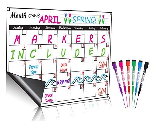 Dry Erase Monatskalender Set/Große Magnet weiß Board & Lebensmittels Liste Organizer für Küche Kühlschrank/Best für Smart - Abdeckungen Kühlschränke Für Magnetische