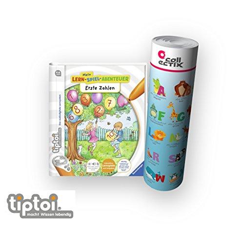 Ravensburger tiptoi ® Buch ab 4 Jahre   Erste Zahlen - Mein Lern-Spiel-Abenteuer + ABC Buchstaben Lern-Poster mit Tieren