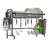 Xue-Shelf Geschirrtrockner über Waschbecken, Edelstahlständer Abtropffläche Küche Liefert Lagerregal Utensilien Halter