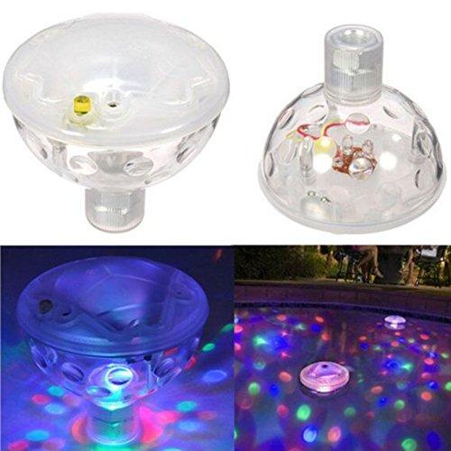 er-LED-Licht, Tauch wasserdicht Farbwechsel LED-Licht mit Knopfbedienung, LED-Licht für Sommerfest Schwimmende Teich Pool Garten Bad Hochzeit,2er ()