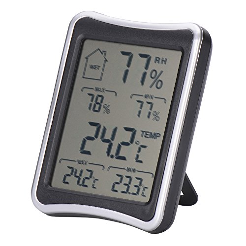 Sel Natural Thermo-Hygrometer, Digital Hygrometer und Thermometer Monitor mit Min/Max Records