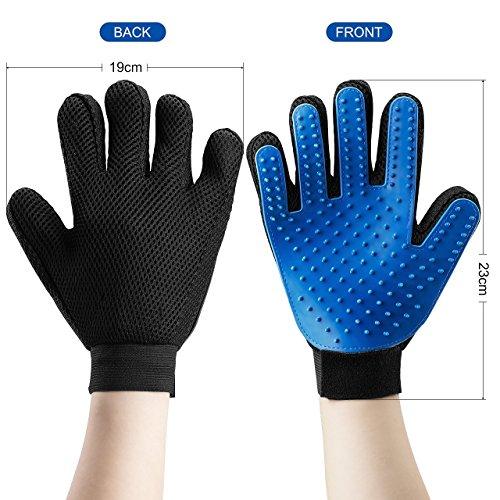 Generic 26-020-611x2 - Pack de 2 guantes para cepillar animales domésticos, color azul