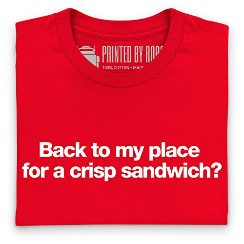 Crisp Sandwich T-Shirt, Herren Rot