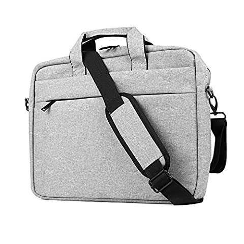 "Clamshell Sacoche pour Ordinateur Portable 15,6-17"", iCasso imperméable Sac à Bandoulière Besaces/ Tablette Sleeve pour MacBook Air /Pro Retina HP Dell Samsung Sony ASUS Lenovo Surface Pro - Gris"