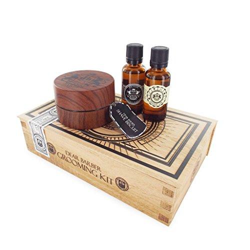 Dear Barber Shave Care Men's Gift Set Collection, Shaving Biscuit 100ml, Shave Oil 30ml & Men's Fragrance 30ml - Close Shave Oil