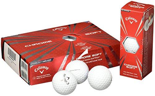 Callaway Men's Chrome Soft Golf Balls, White, One Dozen
