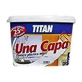 Titan - Pintura Plástica Interior 1 Capa Blanco Titan 5L.