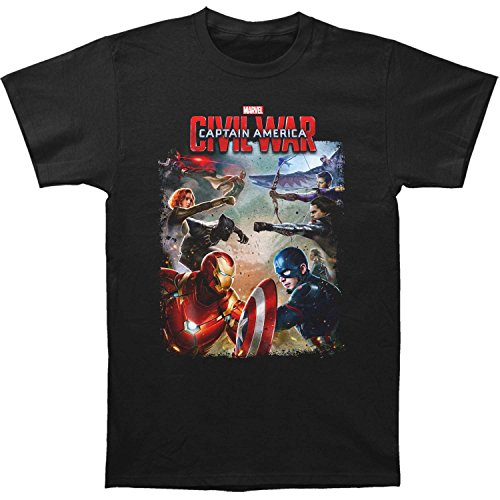 Captain America - Herrenbürgerkrieg-Kampf taillierten T-Shirts Black