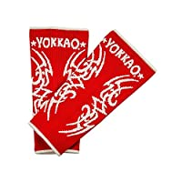 Yokkao Tribal Muay Thai Ankle Guards for Men - Red  L