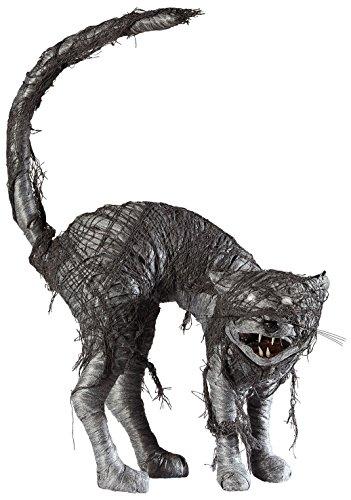 Widmann-Katze Zombie mit Augen Licht LED für Erwachsene, schwarz/rot, One Size, vd-wdm07091