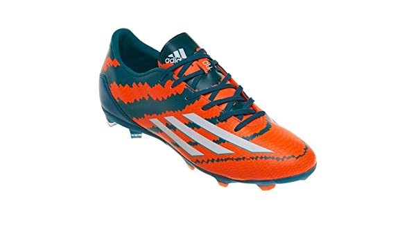 6503a4082 Adidas Messi 10.1 FG Soccer Football Shoes - Power Teal White Solar Orange  (Ind Uk 09)  Amazon.in  Sports