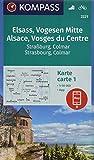 KOMPASS Wanderkarte Elsass, Vogesen Mitte, Alsace, Vosges du Centre: 2 Wanderkarten 1:50000 im Set inklusive Karte zur offline Verwendung in der ... (KOMPASS-Wanderkarten, Band 2221) -