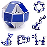 UPXIANG Popular Magic Snake Shape Twist Puzzle, Foldable 3D Cube Gift, Childs Kids Adults Game